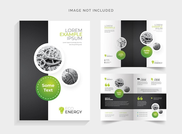 Brochure business bifold con cricle