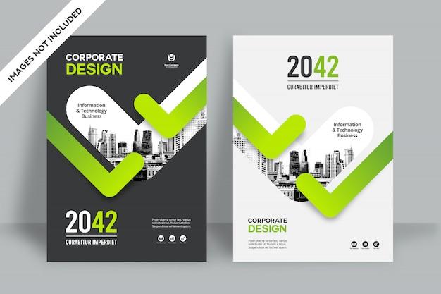 Modello di progettazione copertina libro di affari