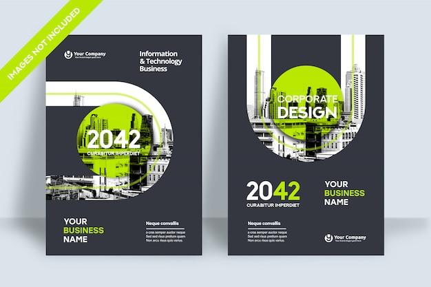 Modello di progettazione copertina del libro di affari