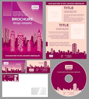 Modello di business brochure architettura design vettoriale