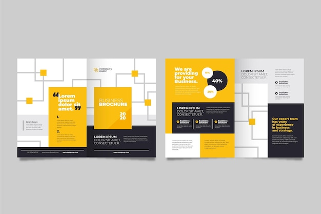 Concetto di brochure aziendale