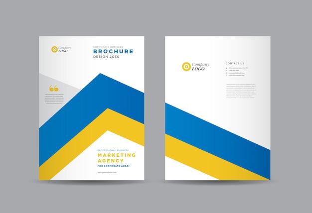 Brochure aziendale design della copertina o relazione annuale e profilo aziendale o copertina dell'opuscolo