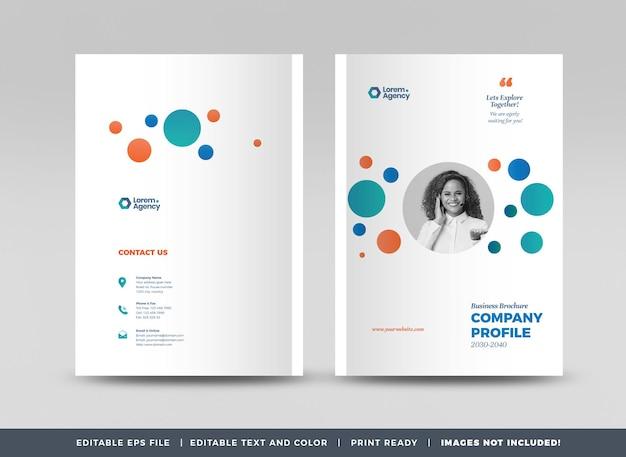 Copertina brochure aziendale o relazione annuale e copertina del profilo aziendale o copertina dell'opuscolo
