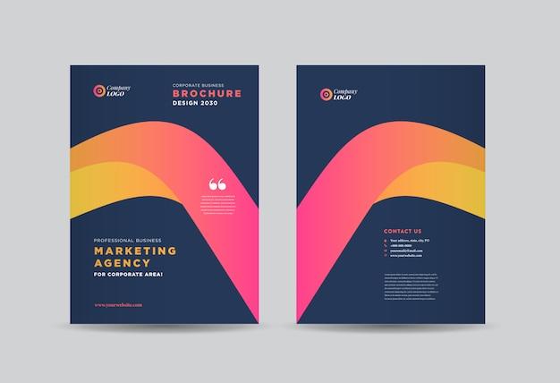 Brochure aziendale cover design