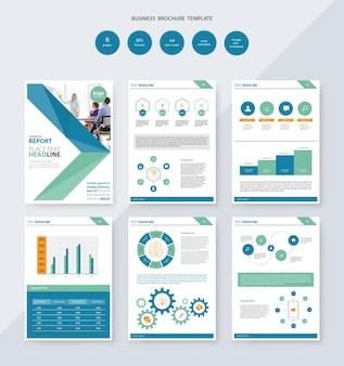 Modello di progettazione brochure aziendale