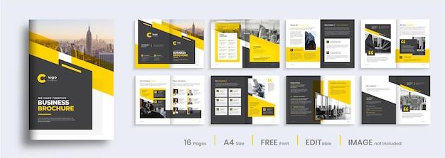Progettazione del layout del modello di brochure aziendale, progettazione del profilo aziendale multipagina