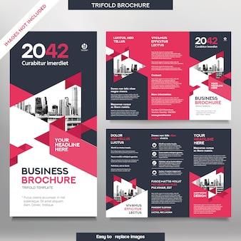Modello dell'opuscolo di affari nel layout ripiegabile. opuscolo corporate design con immagine sostituibile.