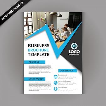 Modello di brochure aziendale con colore blu