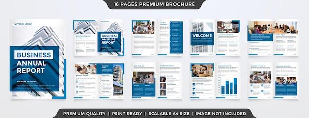 Modello di brochure aziendale con stile minimalista