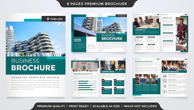 Modello di brochure aziendale con stile premium