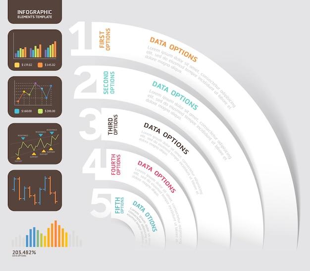 Brochure aziendali modello carta pieghevole stile