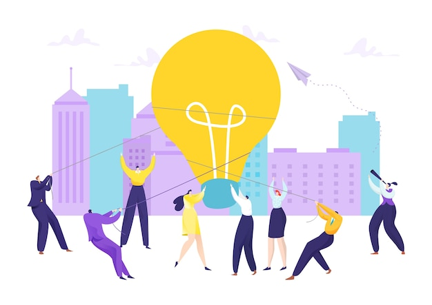 Idea di innovazione lampadina aziendale