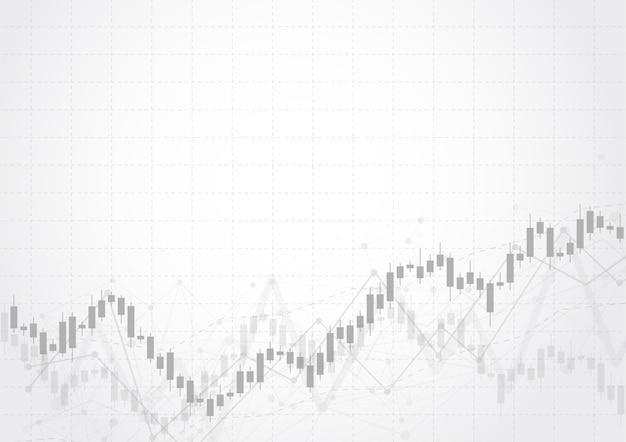 Grafico del grafico del bastone della candela di affari del mercato azionario