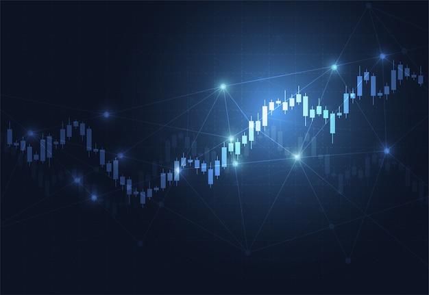 Grafico del grafico del bastone della candela di affari delle azione
