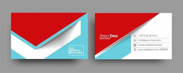 Biglietto da visita - modello di biglietto da visita moderno creativo e pulito.