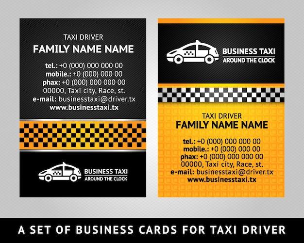 Biglietto da visita taxi