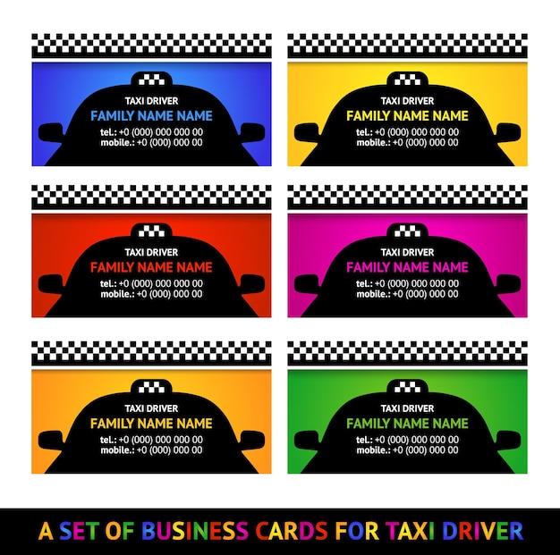 Set taxi per biglietti da visita