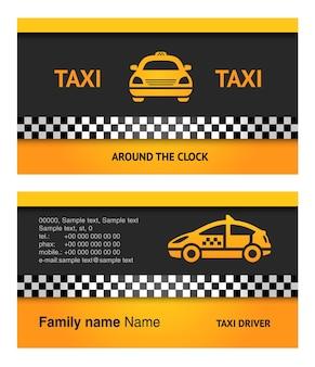 Biglietto da visita - taxi, modello vettoriale 10eps