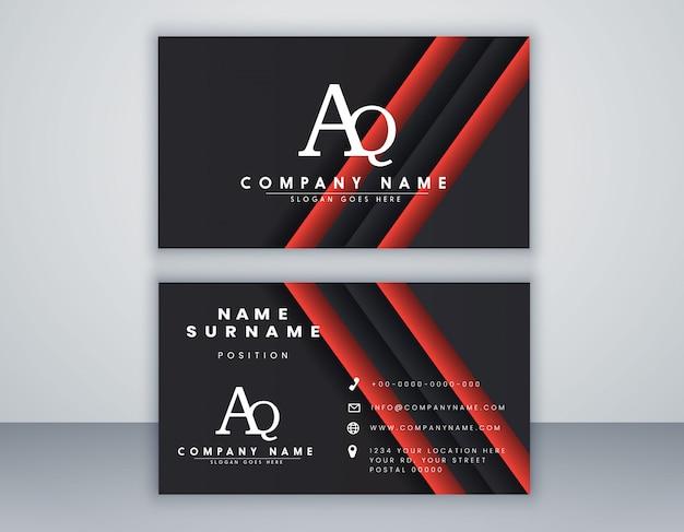 Modello di biglietto da visita con il concetto pulito composizione elegante elemento