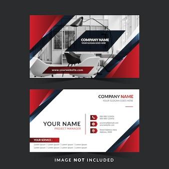 Modello di biglietto da visita con colore rosso e scuro