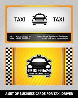 Biglietti da visita taxi - set