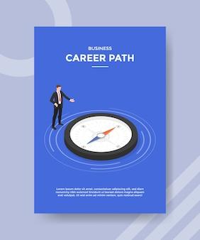 Modello di volantino del percorso di carriera aziendale