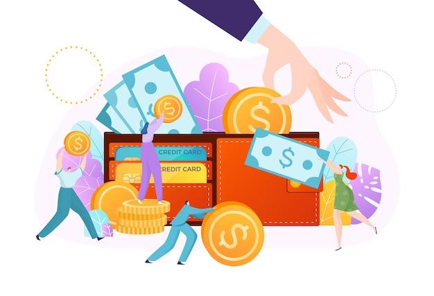 Illustrazione di concetto di investimento di finanza di denaro contante di affari