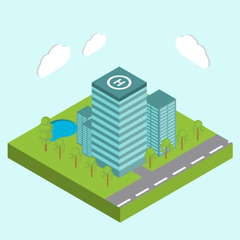 Edifici del centro business della città