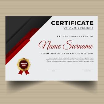 Modello di certificato aziendale dal design moderno