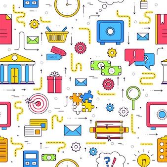 Modello di infographics del cerchio di affari.