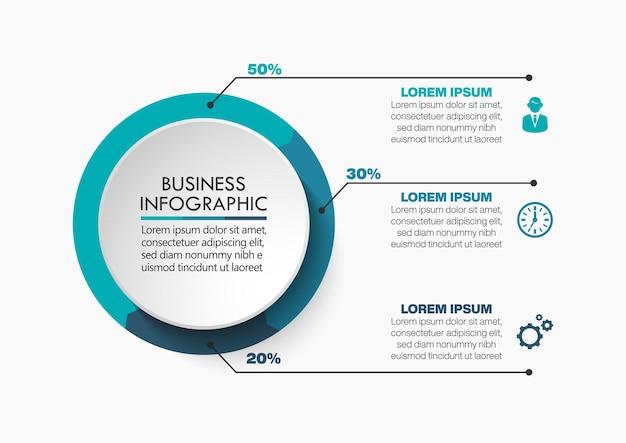 Modello di infografica timeline del circolo aziendale