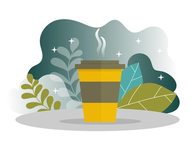 Pagina di destinazione della pausa caffè aziendale. banner di ora di pranzo con modello di sito web piatto. modifica e personalizzazione facili. illustrazione vettoriale. concetto di gestione del tempo.