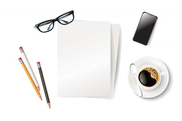 Pausa caffè aziendale, smartphone