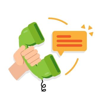 Comunicazione d'affari. supporto per call center