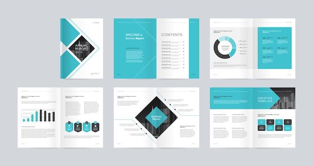 Modello di layout di progettazione brochure aziendale aziendale