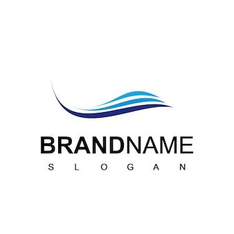 Logo aziendale aziendale con simbolo astratto dell'onda