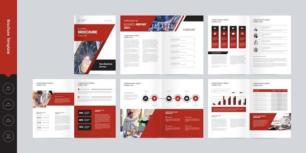 Modello di layout di progettazione brochure profilo aziendale aziendale