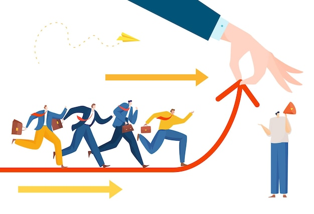 Concetto di maratona di concorrenza aziendale