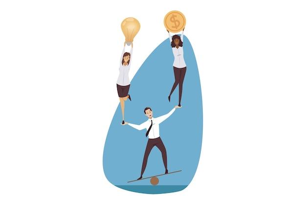 Illustrazione di concetto di affari