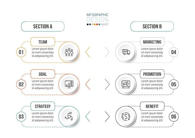 Modello di business concetto infografica con opzione