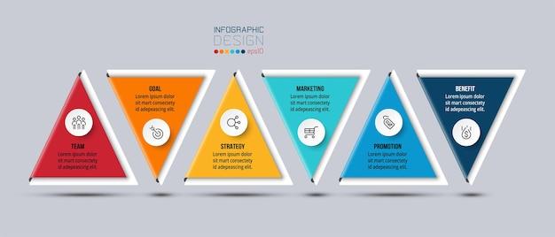 Modello di infografica concetto di business con opzione