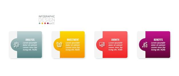 Modello di infografica concetto di business con opzione.