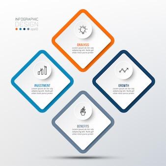 Modello di infografica concetto di business con opzioni
