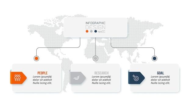 Modello di infografica concetto di business con organizzazione.