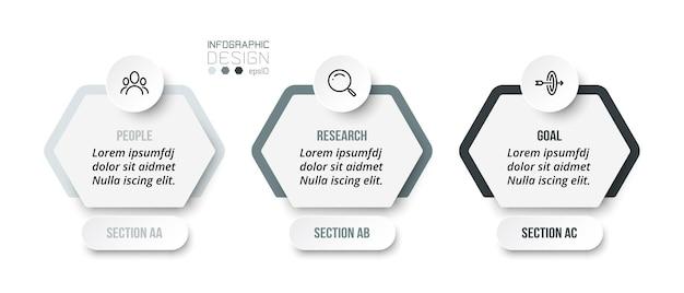 Modello di business concetto infografica con sezione