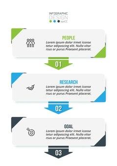 Modello di infografica concetto di business con flusso di lavoro.