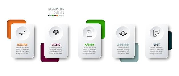 Modello di business concetto infografica con opzione annuale