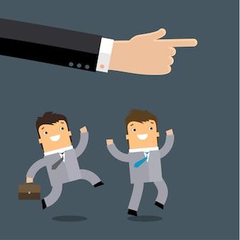 Concetto di business in leadership Vettore Premium