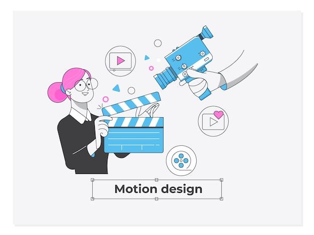 Studio di progettazione di movimento di concetto di affari