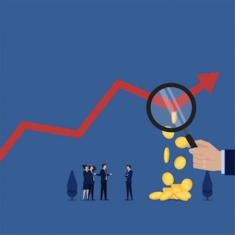 Concetto di affari con le finanze